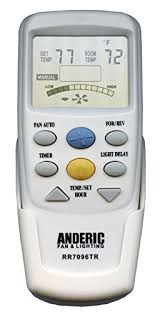 anderic replacement for hampton bay chq7096t with reverse key thermostatic remote control for hampton bay ceiling fans fcc id chq7096t uc7096t