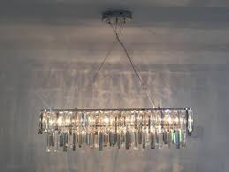 next bellagio 7 light linear bar pendant chandelier