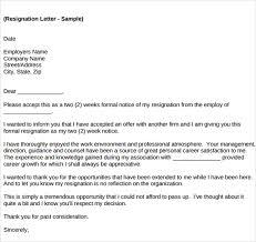 Job Resignation Letter Sample Template Best 28 Job Resignation Letter Templates Sample Templates