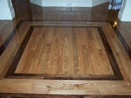 elegant hardwood floor design ideas with border patterns
