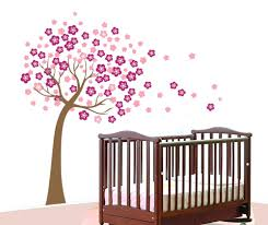 baby girl nursery tree wall decals wall decals for nursery rooms design  image of cherry blossom