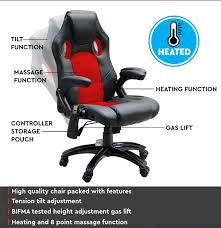 heated office chair. NEW-8-Point-Massage-Office-Chair-Executive-Heated- Heated Office Chair