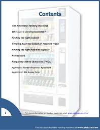 Vending Machine Site Agreement Mesmerizing Starting Your Own Vending Business A Stepbystep Guide