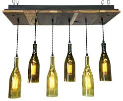 wine bottle chandelier rustic chandeliers reclaimed wood with bulbs how to make pottery barn