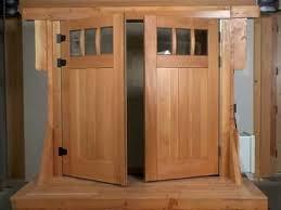 swing out garage doorsSwing Out Carriage Garage Door Opener  YouTube
