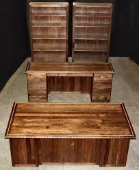 solid oak corner office desk new london solid oak corner home office desk carved black walnut