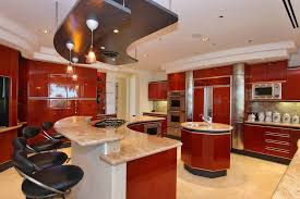 luxury kitchen cabinets. Luxury Modern Red Kitchen With An Astonishing Amount Of Storage And Working Surface Area. Cabinets