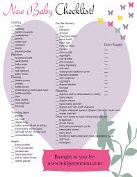 Baby Check List Baby Needs Check List Magdalene Project Org