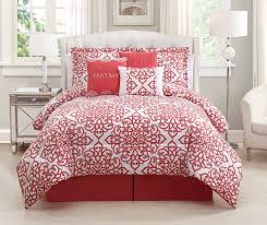 sensational design red white comforter sets 7 piece fantasy c set king black and elegant
