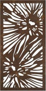 Small Picture Flower Design Laser Cut Metal Art for Garden Wall from Earth