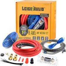 Buy LEIGESAUDIO 0 Gauge Amp Wiring Kit Complete 0 AWG Amplifier  Installation Wiring Kit - Car Subwoofer Wiring Kit Helps You Make  Connections and Brings Power to Your Radio, Subwoofer and Speakers