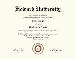 fake bachelor degree fake howard university diploma diploma outlet