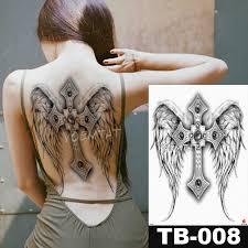 4835 см подвеска ангела большие водостойкие наклейки для татуировки временные