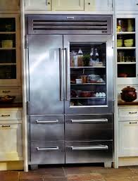 decoration, Awesome Glass Door Refrigerator With Any Kind Of Food Inside  Modern Refrigerator Side Cabinet