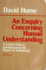 an enquiry concerning human understanding edition open  cover of an enquiry concerning human understanding by david hume