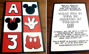 Make Your Own Mickey Mouse Invitations Mickey Mouse Party Invitations Two Sisters