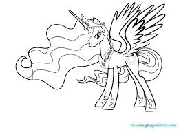 my little pony princess celestia coloring pages to print my little pony coloring pages princess and