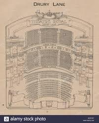 Theatre Royal Drury Lane Seating Chart Drury Lane Theatre Vintage Seating Plan London West End