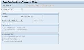 Cx12 Sap Tcode Display Cons Charts Of Accounts Transaction