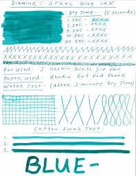 Diamine Steel Blue Ink Review Giveaway Pen Chalet
