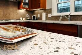 countertops made of recycled glass are a stylish and environmentally friendly countertop option
