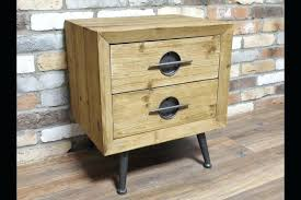 full size of reclaimed wood and metal nightstands nightstand small solid square bedside table industrial look