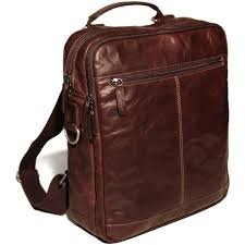 jack georges voyager convertible backpack cross bag in vegetable re tanned buffalo leather