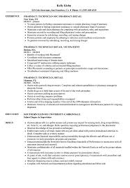 Pharmacy Technician Resume Sample Retail Pharmacy Technician Resume Samples Velvet Jobs 65