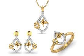 nitya delicate diamond pendant set