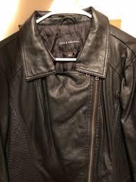 rock republic collection women black leather jacket crop zip size xl