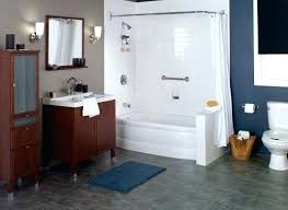 wrap around shower curtain this tub and shower combo with wrap around shower curtain rod could