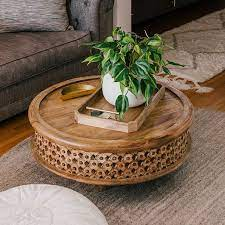 Buy from insaraf's exclusive collection of stylish coffee table designs. Carved Wood Coffee Table