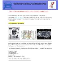 audi a4 b5 1997 1998 1999 2000 electrical wiring diagram pdf