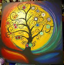 tree paintings on canvas tree painting love