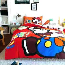 wordless super mario bed in a bag twin sheets