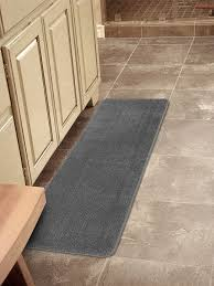 details about ottomanson softy collection solid non slip kitchen bath rug 20 x 59 gray