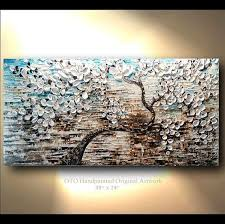 commission 24x48 white gold brown blue flower abstract on blue brown wall art with blue and brown canvas wall art elitflat