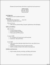 22 High School Resume No Work Experience Professional Template ...