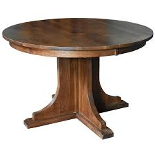 Amazoncom Solid Oak Round Dining Table With 2 Leaves Tables
