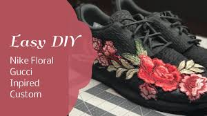 gucci inspired. easy diy floral gucci inspired nike gucci inspired