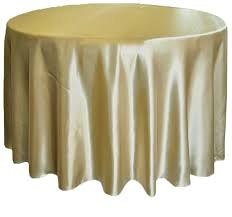 satin round table cloth gold 3m 120inch