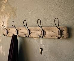 5 Hook Coat Rack Entryway Rustic Style 100 Hook Wall Mount Wooden Coat Rack Brown 26