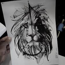 эскиз татуировки лев 44721 тату салон дом элит тату