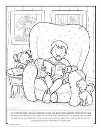 Small Picture A family at Christmas Coloring page for Primary kids from ldsorg