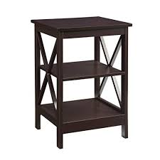 End table decor Cottage Convenience Concepts Oxford End Table Espresso Badtus End Table Decor Amazoncom