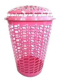 Pink Plastic Laundry Basket Custom Pink Plastic Laundry Basket Grand Oval Laundry Basket Plastic