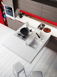 Space Saving Kitchen Space Saving Kitchens With Versatile Cantilevered Workstation