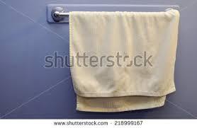 hanging white towel. White Towel Hanging In Washroom