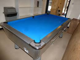 Setting Up A Pool Table Silver Supreme Winner Pool Table For Sale With Blue Cloth Plus