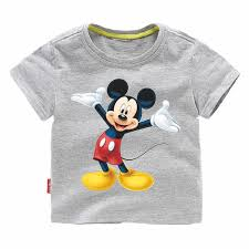 Jargazol <b>Kids Polo Shirt Cartoon</b> Mickey Printed Summer Short ...